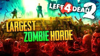 Largest Zombie Horde EVER! (L4D2 Zombies - Warehouse)