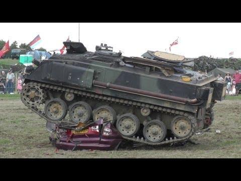 FV432 Tanks Crushing Car but car fights Back