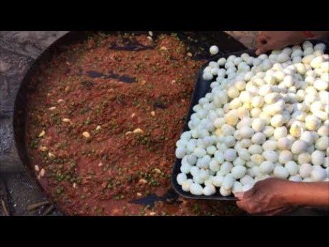 Cooking 500 Quail Eggs in Our Village Quail Egg Gravy