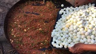 Cooking 500 Quail Eggs in Our Village - Quail Egg Gravy - Our Village Our Food