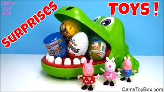 Toys Surprises Opening Kinder Peppa Pig SpongeBob Mashems Fashems Toy Unboxing Fun