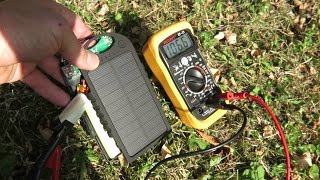 Solar Powerbank DÖRR SC-5000, Untersuchung des Ladeverhaltens