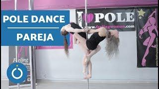 POLE DANCE CLASES - Posición vertical en pareja