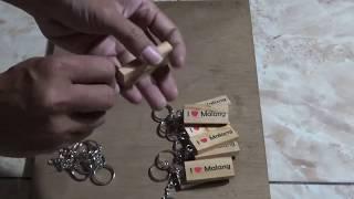 Cara Pembuatan Gantungan kunci dari limbah kayu