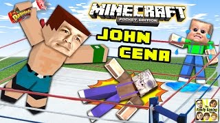 JOHN CENA ATE MY YOGURT!! (MINECRAFT WWE SURPRISE BATTLE) FGTEEV Glowstone Dust Race 2.0