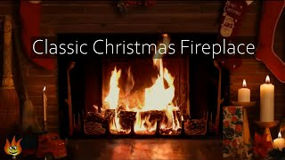 🎅Cozy Christmas Yule Log Fireplace with Crackling Fire Sounds (Long Version)