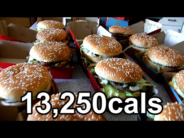 Eating 25 Big Macs in One Sitting (World Record)