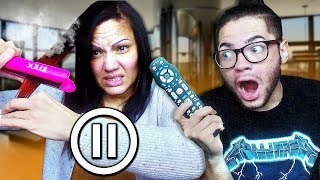 PAUSE CHALLENGE With FAMILY For 24 HOURS! *Gone Too Far*
