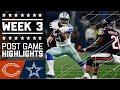 Bears Vs Cowboys Week 3 Post Game Highlights Nfl