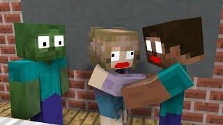 BEST ALL Monster School: Girl Kisses Herobrine - Minecraft Animation