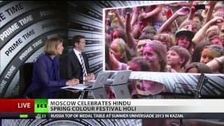 Moscow celebrates Hindu Spring Colour Festival Holi