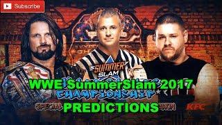 WWE SummerSlam 2017 United States Championship AJ Styles vs. Kevin Owens Predictions WWE 2K17