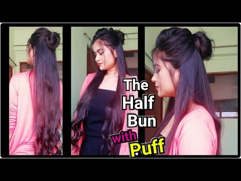 Xxx Mp4 Easy Hairstyles For Medium To Long Hair The Half Bun With Puff Party Indian Hairstyles 3gp Sex