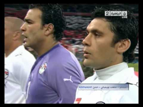 the national anthem of Egypt from the deep heart of wembley stadium