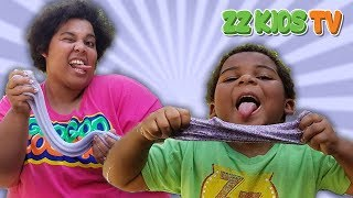 MOM VS SON 3 COLORS OF GLUE SLIME CHALLENGE!