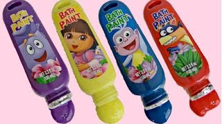 Disney Jr. DORA THE EXPLORER Bath Time Paint, Learn Colors, Skye, Sofia,Minnie Mickey Mouse / TUYC