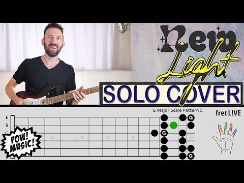 """John Mayer """"New Light"""" Ep. 1 - GUITAR SOLO - Cover & fretLIVE Lesson (Tutorial, How to Play)"""