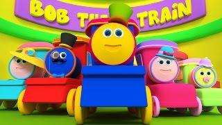 Bob Kereta Jari Keluarga   sajak anak   3D Song for Kids   Kids Rhymes   Bob Train Finger Family