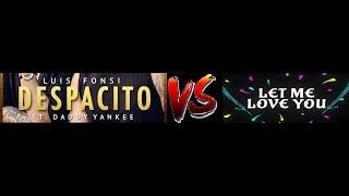 Despacito vs Let me love you | A Mix By Gyro Mixes |