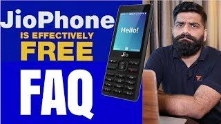 Jio Phone FAQ - HotSpot? Whatsapp? Plans? Price? FREE? Unlimited?