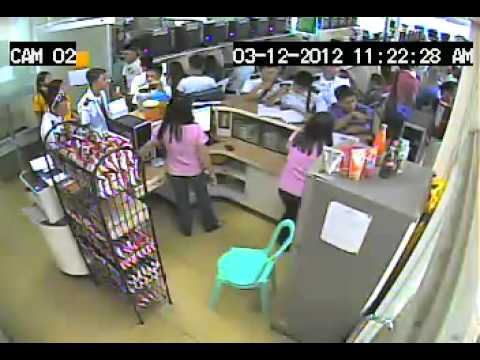 thief caught in CCTV part 2 Leope`s internet cafe
