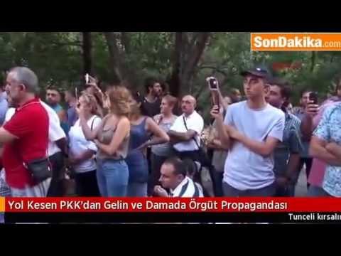 Yol Kesen PKK'dan Gelin ve Damada Örgüt Propagandası2