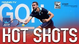 Cilic Lands Gorgeous Lob Hot Shot At London Queens 2017