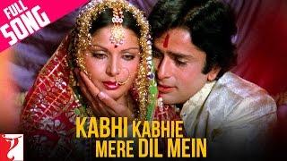 Kabhi Kabhie Mere Dil Mein - (Female) Full Song | Kabhi Kabhie