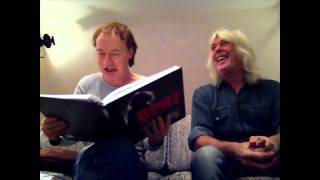 Angus Young Cliff Willams receives Jørgen Angel Classic Rock Photoes of Angus 77