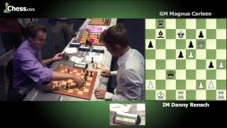 Daniel Rensch (2 minutes) vs  Magnus Carlsen (1 minute) | Game 1