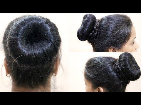 Xxx Mp4 Perfect Tight And Big Bun Hairstyle For Saree Donut Bun Integrators 3gp Sex