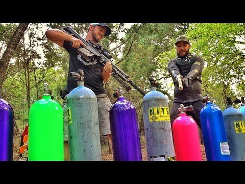 FULL Scuba Tanks vs 50cal ft Jiggin w Jordan