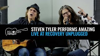"""Steven Tyler performs """"Amazing"""" at Recovery Unplugged drug rehab"""