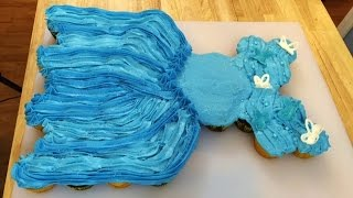 Cinderella Movie Ball Gown Pull Apart Cupcake Cake