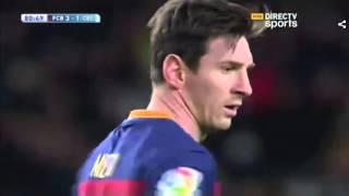 Increible Penal de Messi, pase gol a Luis Suarez | 2016 | Lionel Messi penalty for Barcelona