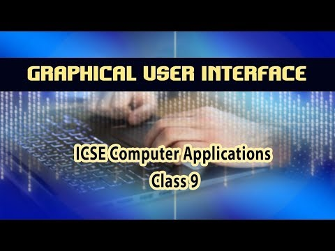 Elements of a Graphical User Interface