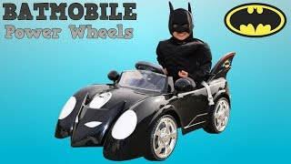 Unboxing New Batman Battery-Powered Ride On Batmobile 6V Test Drive Park Playtime Fun Ckn Toys