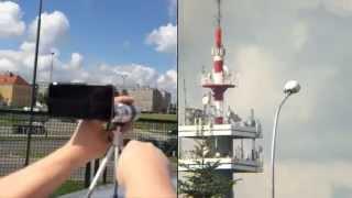 iPhone mobile phone telescope lens zoom 18x test