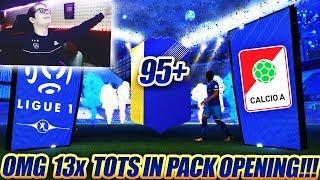 MEGA CALCIO A, LIGUE 1 & 2x 95+ TOTS im PACK OPENING!!💎🤑😍 FIFA 18 krasse Fut Champions Rewards 😱