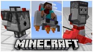 ✔️FLYING CHAIRS AND ROBOTS!! // Minecraft PE mechanic mod / addon [MCPE 1.0.2]