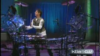 Ravidrums on KTLA  Morning show Interview & Live Re-Mix of Circus Britney Spears