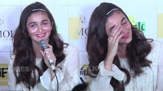 Alia Bhatt Blushes While Talking About Sidharth Malhotra