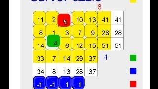 Survo demo: Solving Survo puzzle by swapping method