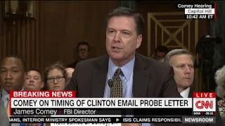 James Comey explains why he sent a letter to Congress