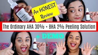 An Honest Review | The Ordinary AHA 30% + BHA 2% Peeling Solution | Beck Wynta
