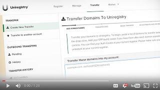 How To Bulk Transfer Domain Names Away from GoDaddy to Uniregistry