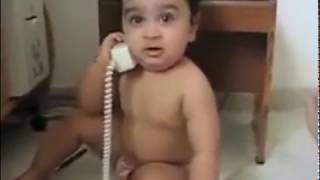 WHATSAPP FUNNY #2 SMALL BABIES TALKING ON PHONES FUNNY