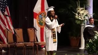 Denisha Antoine sings Hero at 2016 FPCHS Graduation