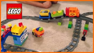 LEGO DUPLO 10508 Deluxe Train Set from 2013 - motorized set with bridge - review