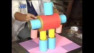 How to make DIY robots made out of recyclable materials | AHA!